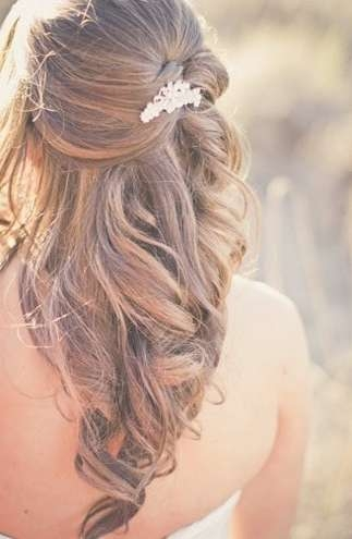 Wedding Half Up Half Down Hairstyles For 2016 | Haircuts With Recent Wedding Half Up Medium Hairstyles (View 17 of 25)
