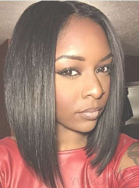 Wigs For Round Faces Short & Long Hair For Round Faces Sales Pertaining To Current Medium Haircuts For Round Faces Black Women (View 6 of 25)