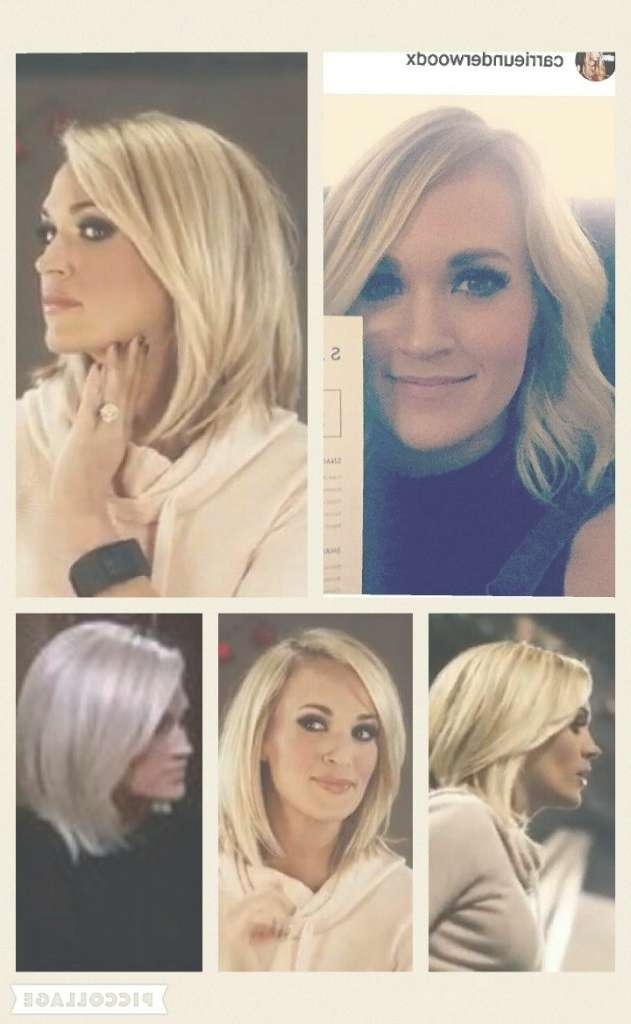 Women Hairstyle : Carrie Underwood Bob Hairstyle Love This Cut And Throughout Carrie Underwood Bob Haircuts (View 25 of 25)