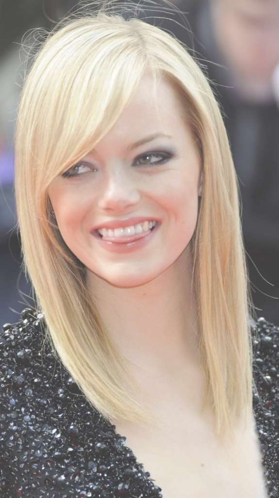 Women Hairstyle : Medium Haircuts For Round Faces With Side Bangs With Regard To Current Medium Haircuts For Round Face Women (View 21 of 25)