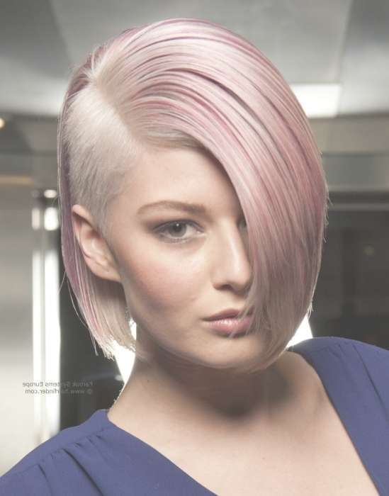 Displaying Gallery of Medium Hairstyles With Shaved Sides For Women ...