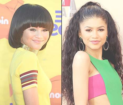 Zendaya Coleman Says Changing Hairstyles Are Just Wigs: Video Throughout Zendaya Bob Haircuts (View 18 of 25)