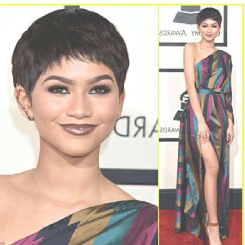 Zendaya Is It A Pixie Haircut Or A Wig?? – Youtube For Zendaya Bob Haircuts (View 23 of 25)