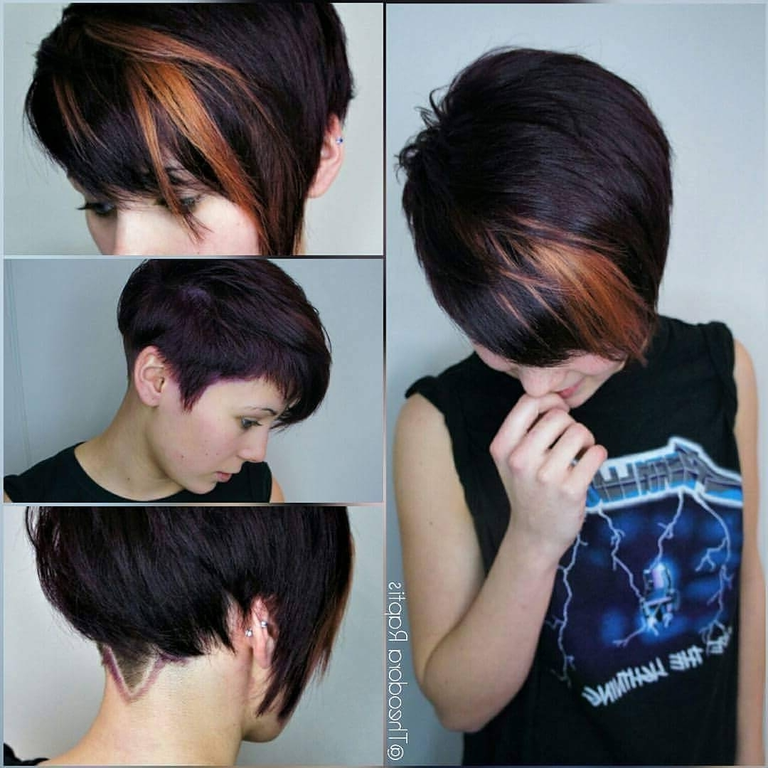 Photo Gallery Of Short Asymmetrical Pixie Hairstyles Showing 12 Of