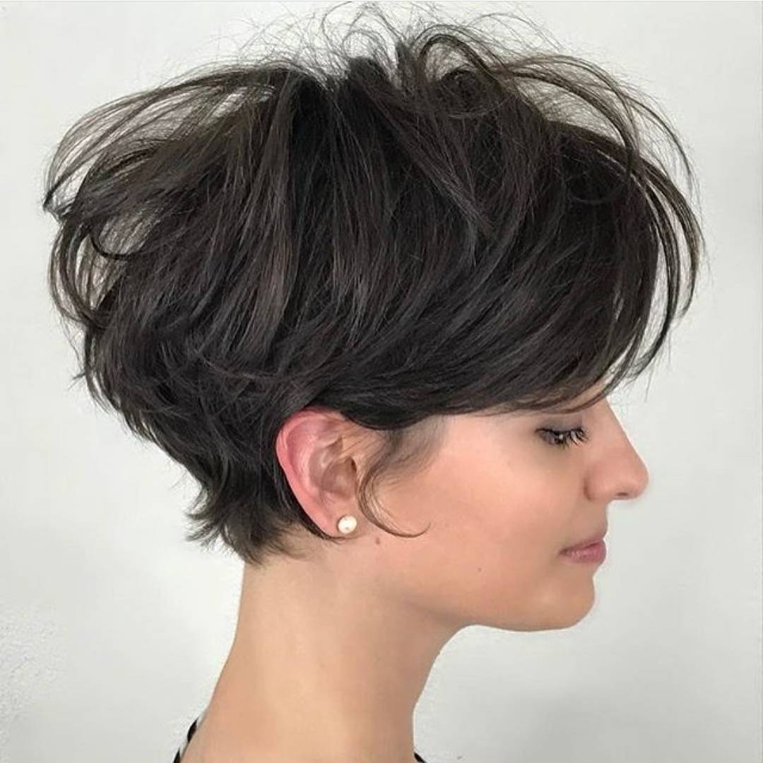 gallery of pixie hairstyles for thick straight hair (view 5 of 15