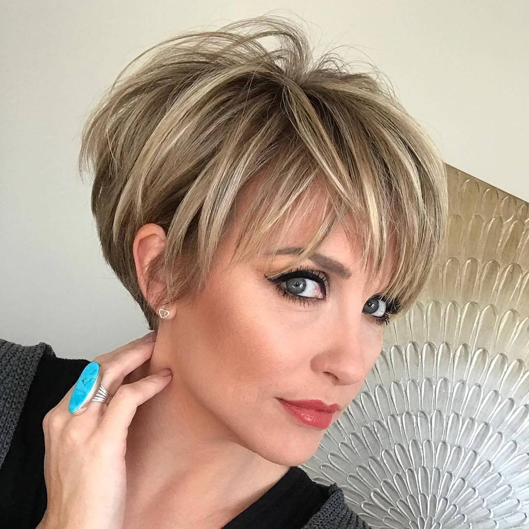 Displaying Photos Of Long Layered Pixie Hairstyles View 4 Of 15 Photos