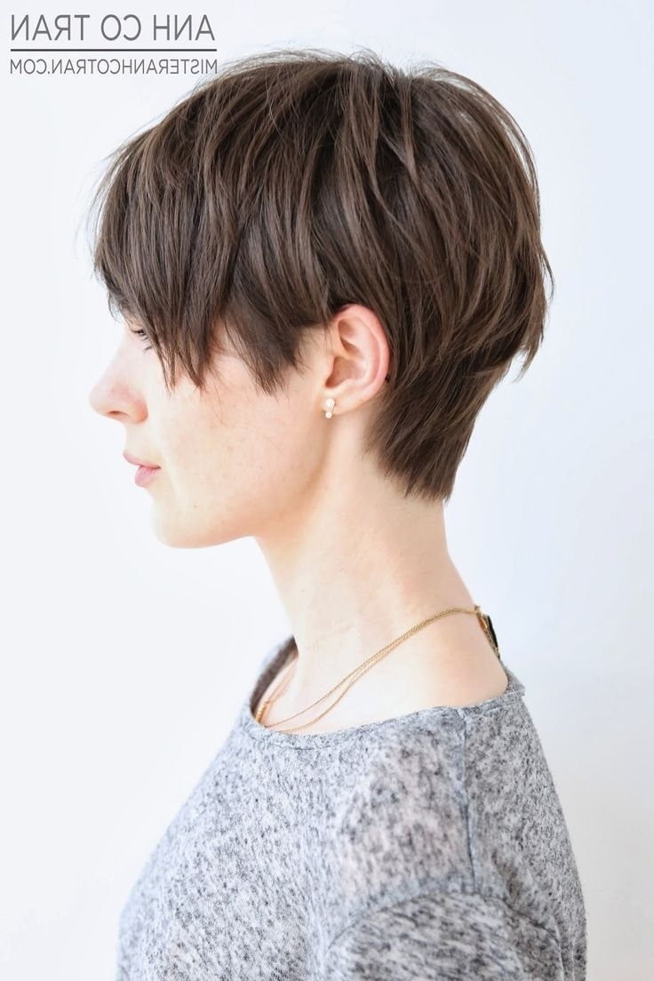 Featured Photo of Brown Pixie Hairstyles