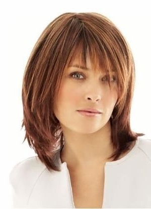 13 Best Hairstyles For My Over 50 Round Face Images On Pinterest Within 2018 Medium Shaggy Hairstyles With Bangs (View 4 of 15)