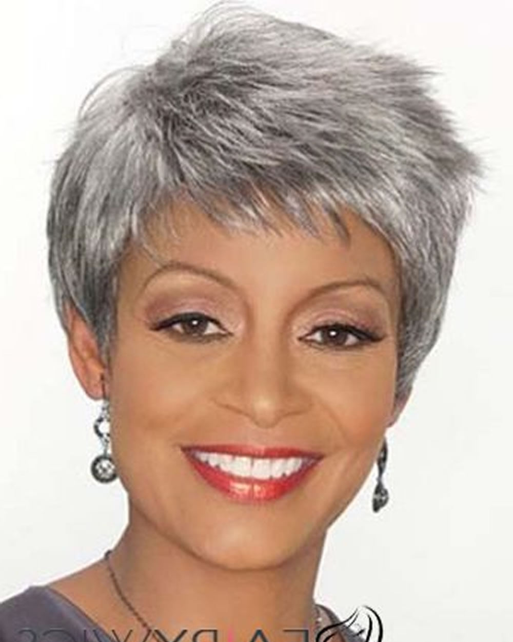 15 Extra Short Hairstyles & Pixie Haircuts For Afro American Older Within Newest Pixie Hairstyles For Women Over (View 2 of 15)
