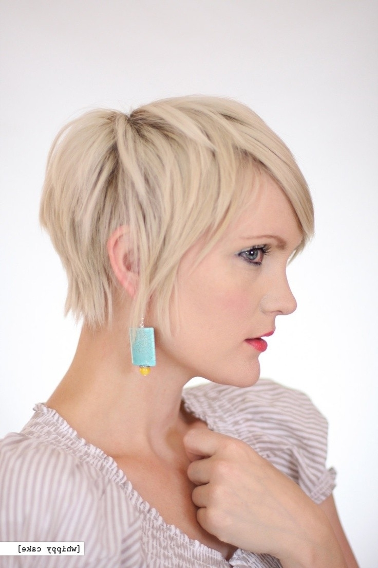 Photos Of Short Feathered Pixie Hairstyles Showing 4 Of 15 Photos