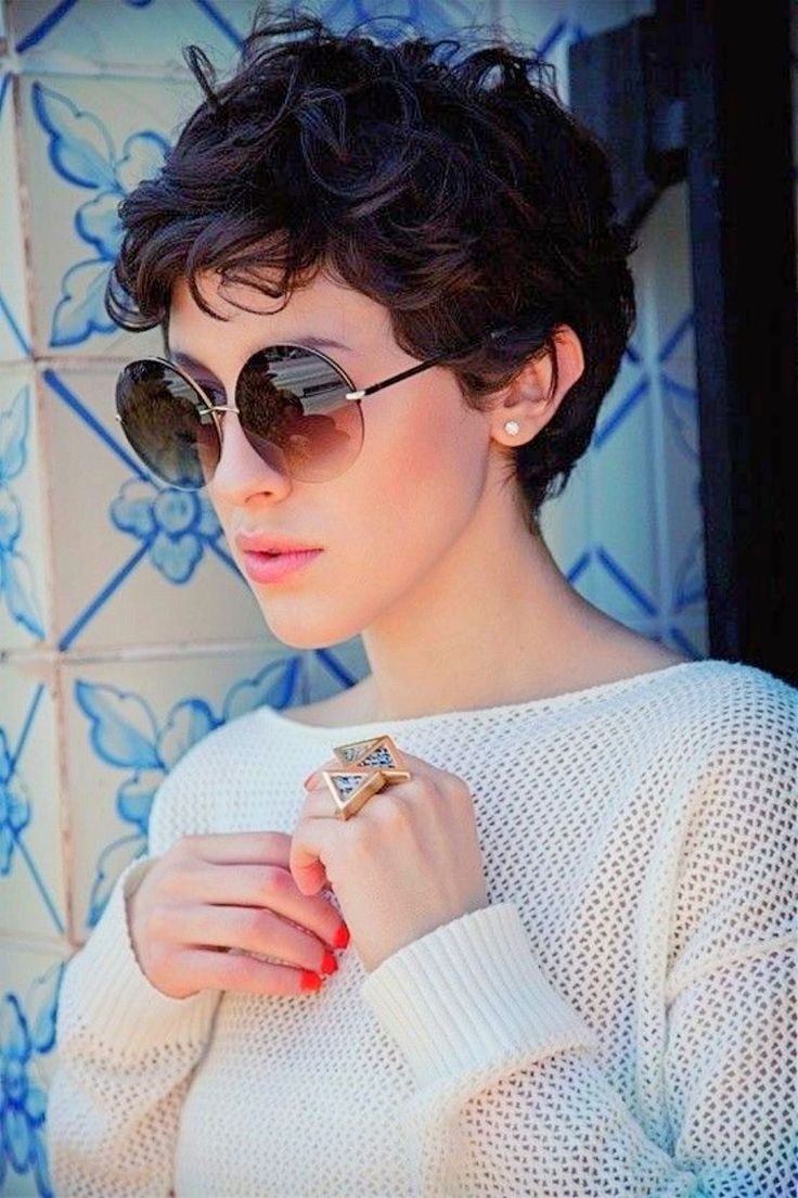 17 Gorgeous Outfits For Early Spring 2018 | Pixies, Curly And Google Intended For Best And Newest Pixie Hairstyles With Curly Hair (View 24 of 33)