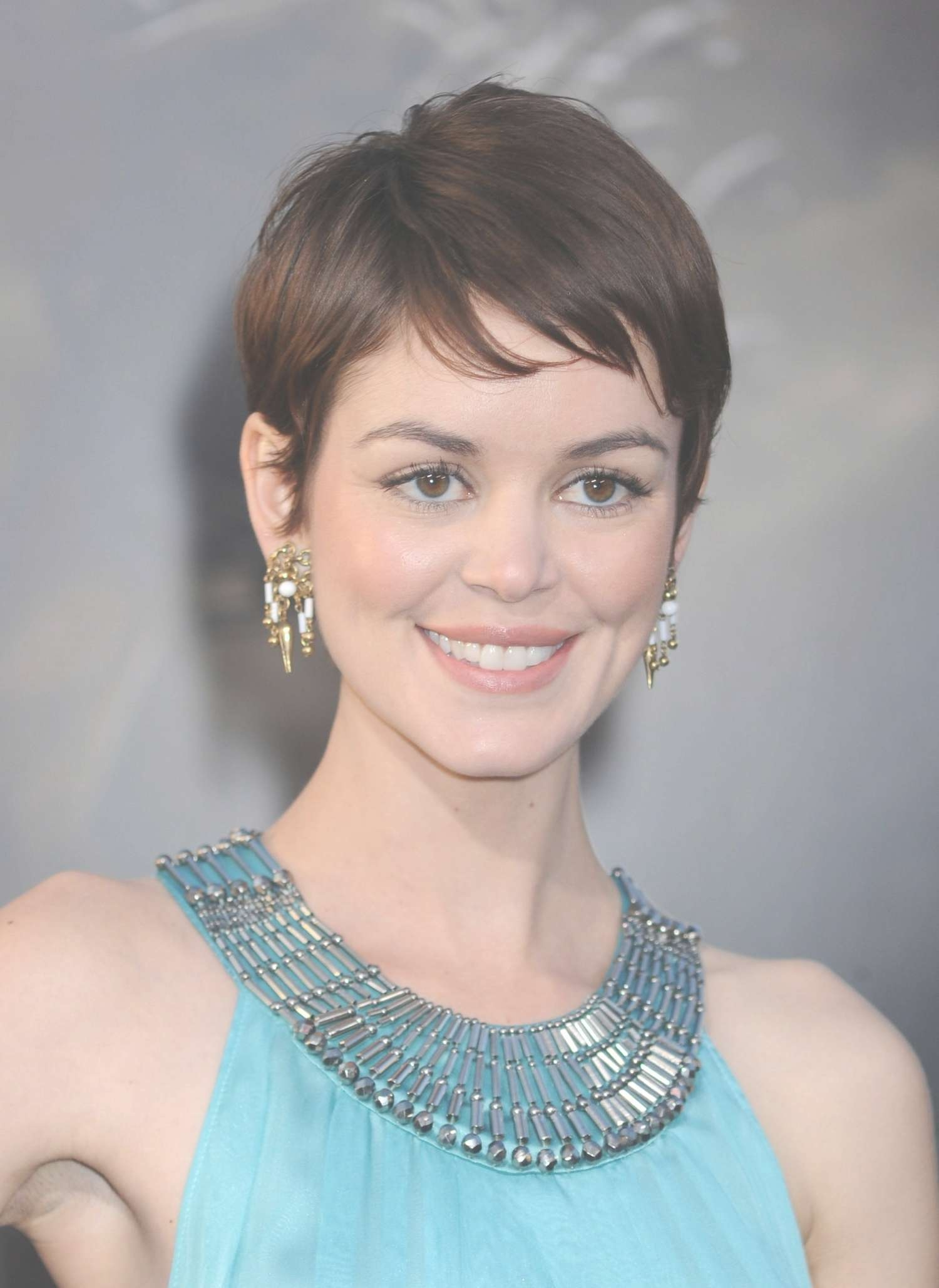 19 Cute Celebrity Haircuts To Consider | Glamour Throughout Recent Actresses With Pixie Hairstyles (View 2 of 15)