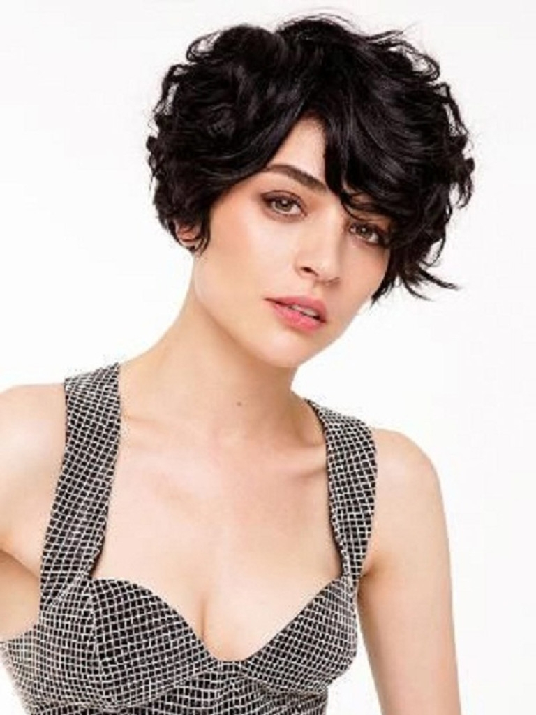 19 Cute Wavy & Curly Pixie Cuts We Love – Pixie Haircuts For Short Regarding Best And Newest Pixie Hairstyles For Dark Hair (View 11 of 15)