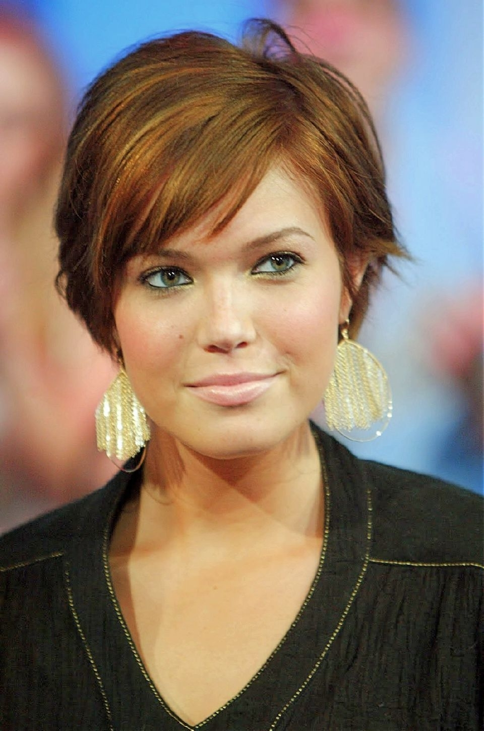 20 Short Hairstyle Ideas For Round Faces: Chic Haircuts You Have Pertaining To Newest Pixie Hairstyles Without Bangs (View 2 of 15)