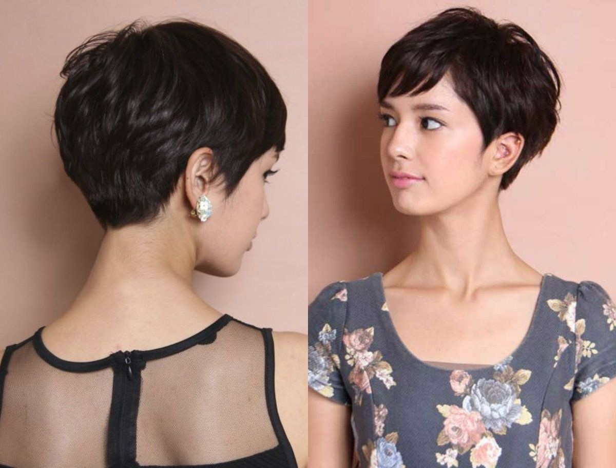 Featured Photo of Brunette Pixie Hairstyles