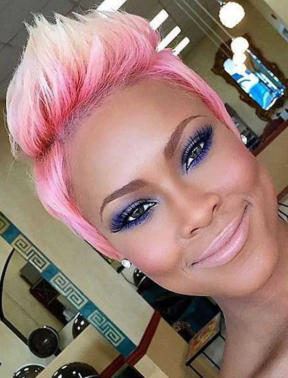 2018 Pixie Haircuts For Black Women – 26 Coolest Black Fine Hair Pertaining To Most Up To Date Pink Pixie Hairstyles (View 10 of 15)