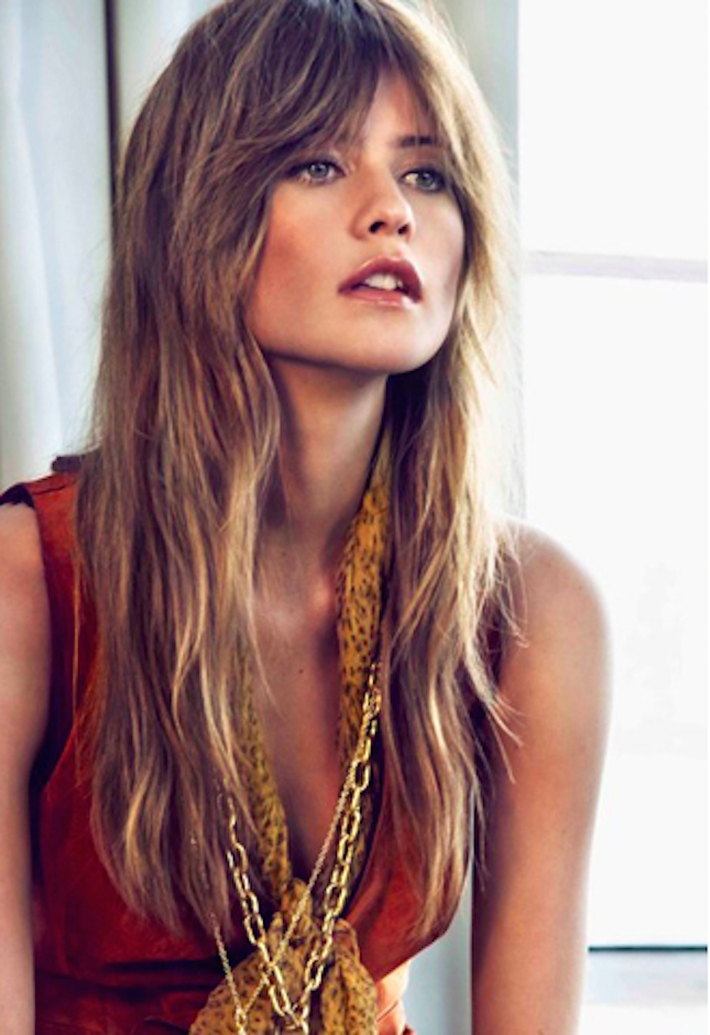 Displaying Gallery Of Shaggy Bangs Long Hair View 3 Of 15 Photos