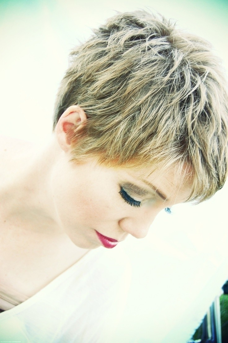 26 Simple Hairstyles For Short Hair: Women Short Haircut Ideas 2017 Throughout Newest Easy Pixie Hairstyles (View 6 of 15)