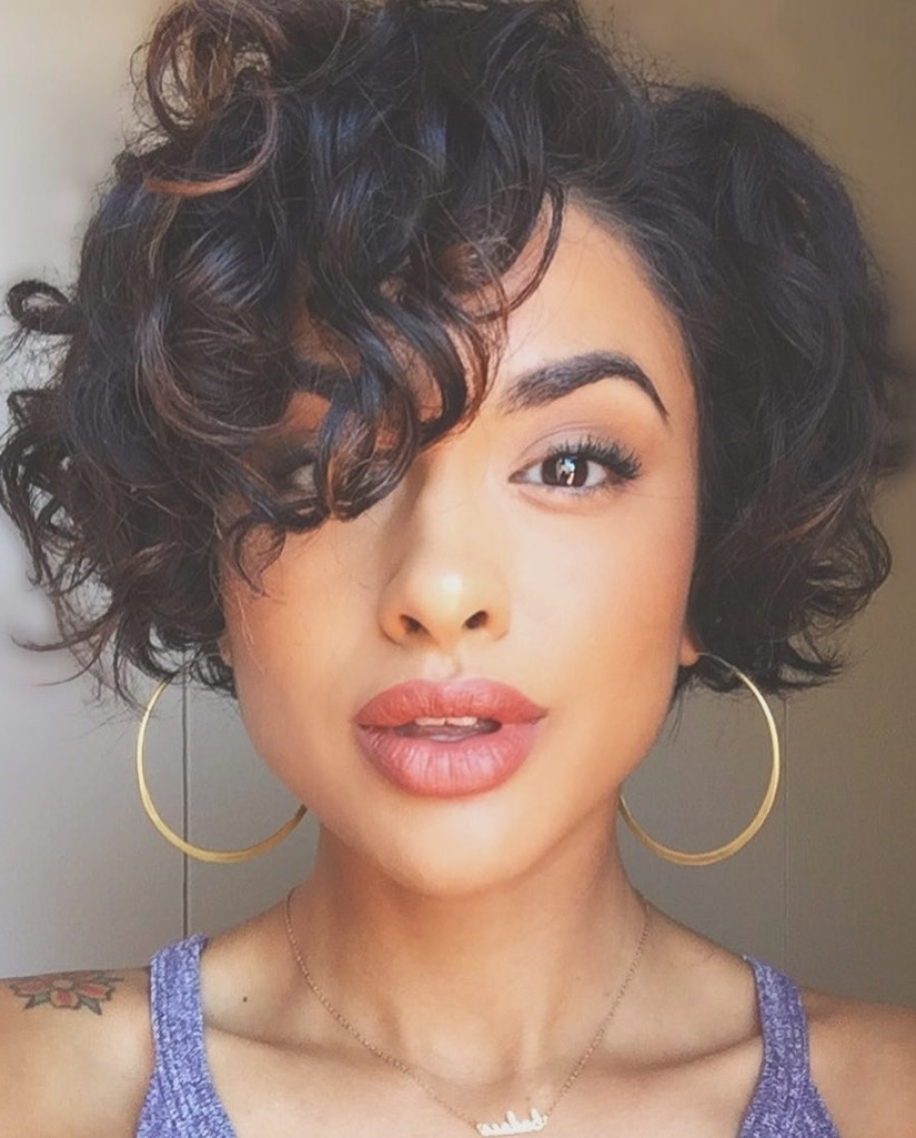 28 Curly Pixie Cuts That Are Perfect For Fall 2017 | Glamour In Current Long Pixie Hairstyles For Curly Hair (View 11 of 15)