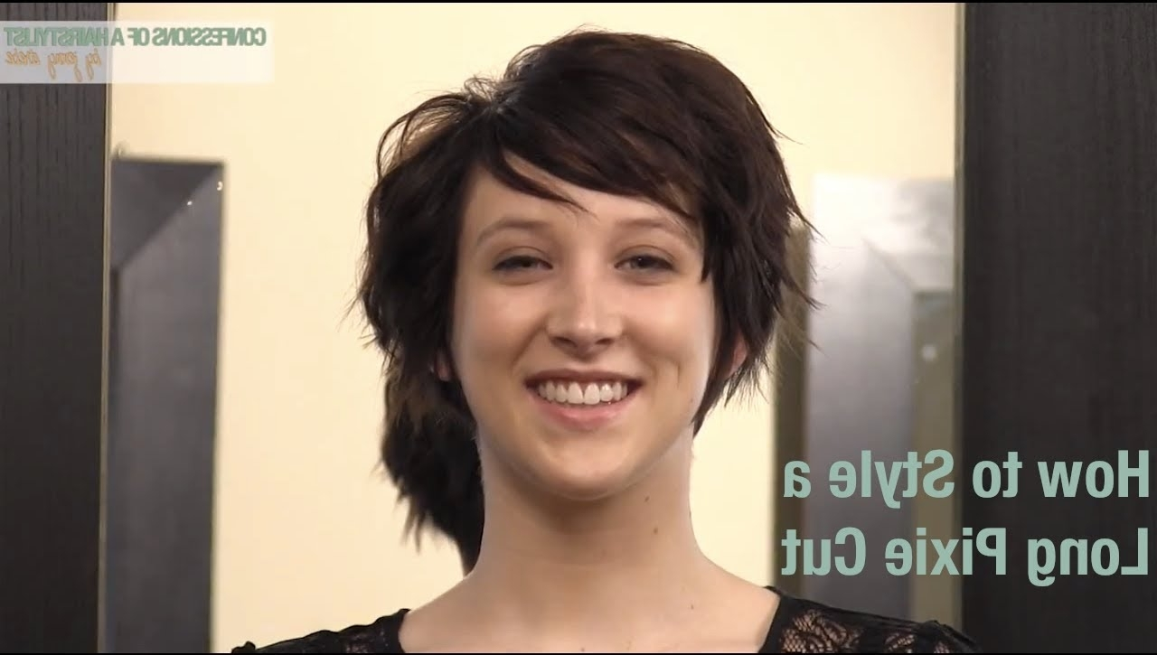 3 Ways To Style A Long Pixie Haircut – Classic, Pompadour And For 2018 Longish Pixie Hairstyles (View 5 of 15)