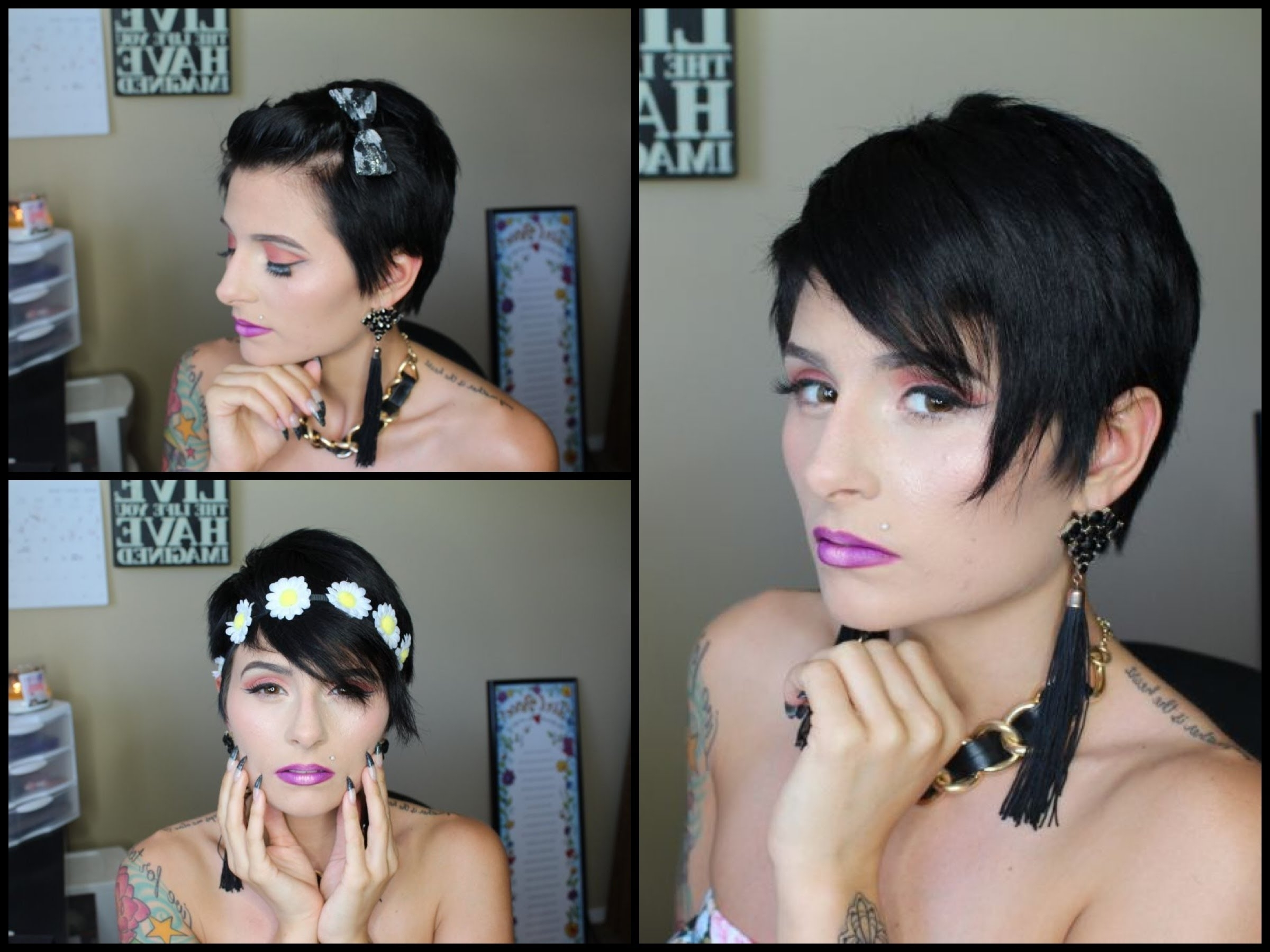 3 Ways To Style A Pixie Cut!   Pinkl0Vexx – Youtube Regarding Most Current Pixie Hairstyles Accessories (View 15 of 15)