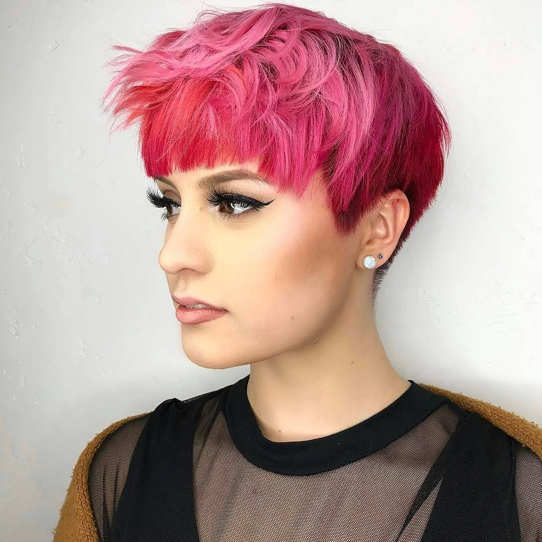 Featured Photo of Pink Short Pixie Hairstyles