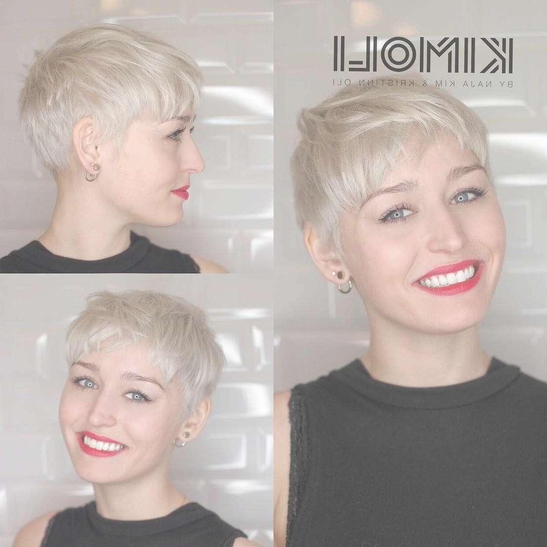Displaying Gallery Of Pixie Hairstyles For Oval Face Shape View 14