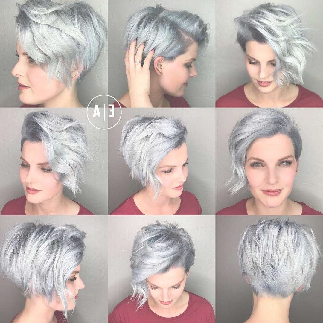 Displaying Photos Of Pixie Hairstyles For Oval Face Shape View 13