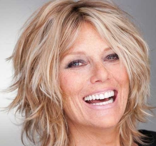 Explore Gallery of Shaggy Hairstyles For Fine Hair Over 50 (Showing ...