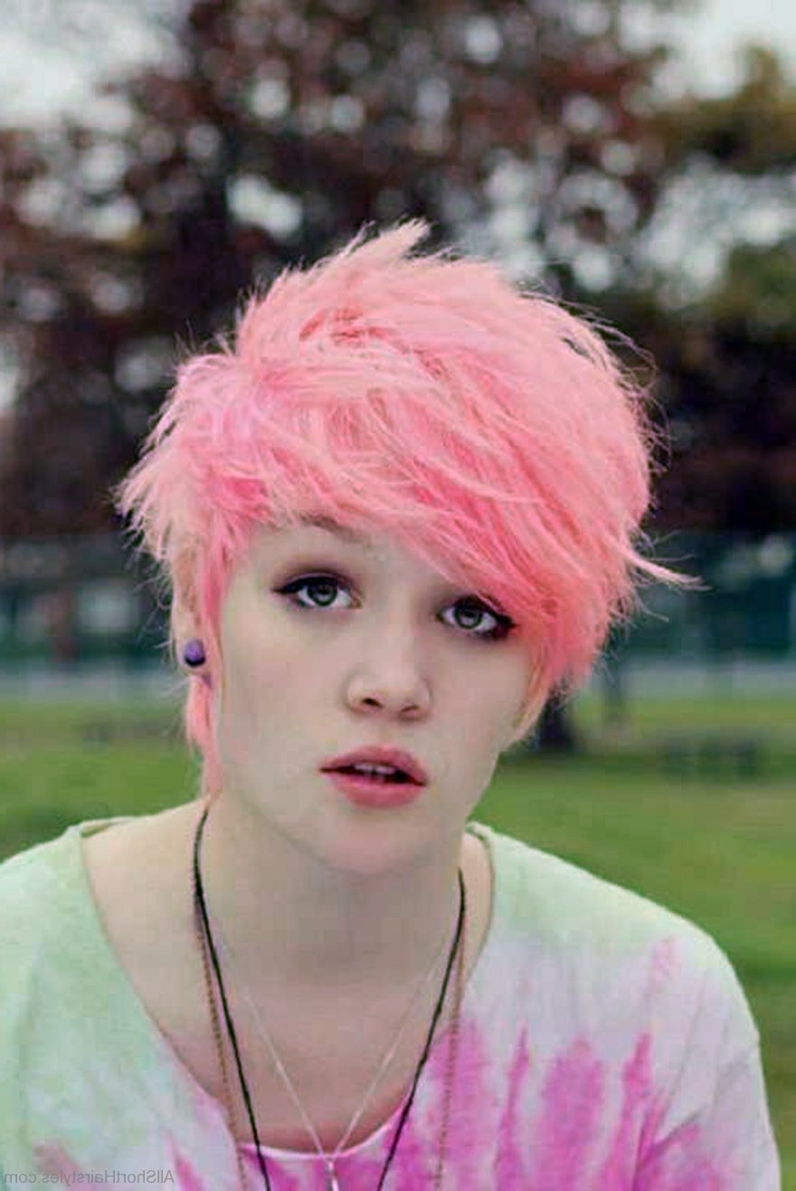 31 Amazing Pixie Hairstyles For Cute Girls Throughout Recent Pink Pixie Hairstyles (View 3 of 15)