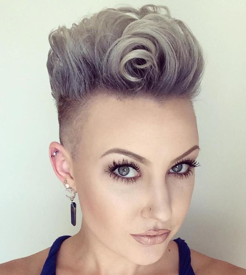 35 Short Punk Hairstyles To Rock Your Fantasy | Undercut Pompadour Within Most Recently Punk Rock Pixie Hairstyles (View 9 of 15)