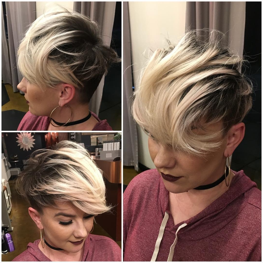 40 Best Short Hairstyles For Fine Hair 2018: Short Haircuts For Women In Most Up To Date Pixie Hairstyles With Long On Top (View 5 of 15)