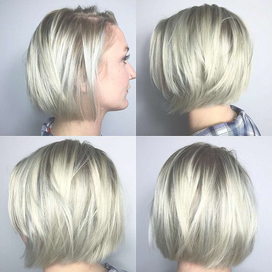 40 Most Flattering Bob Hairstyles For Round Faces 2018 In Current Bob And Pixie Hairstyles (View 8 of 16)