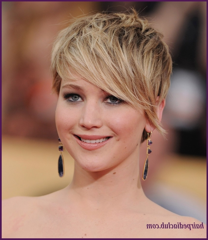 haircuts for thick hair and faces 15 best collection of pixie hairstyles 5052