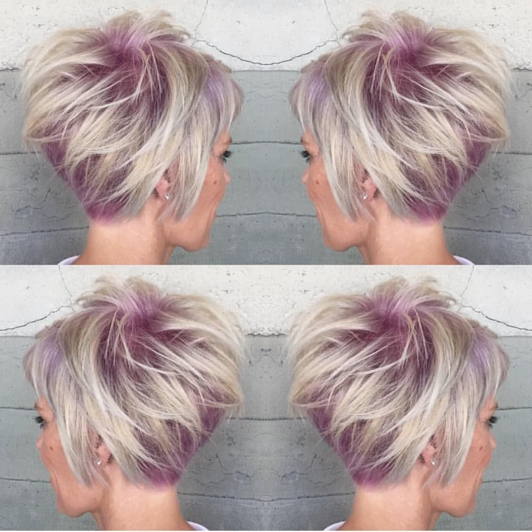 Displaying Gallery Of Short Stacked Pixie Hairstyles View 6 Of 15