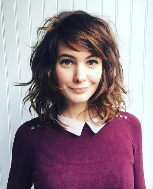 50 Best Variations Of A Medium Shag Haircut For Your Distinctive Throughout Latest Medium Shaggy Hairstyles For Curly Hair (View 9 of 15)