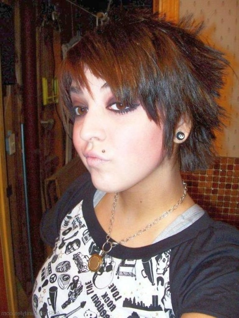 52 Colored Short Emo Hairstyles For Girls Inside Most Recent Emo Pixie Hairstyles (View 3 of 15)