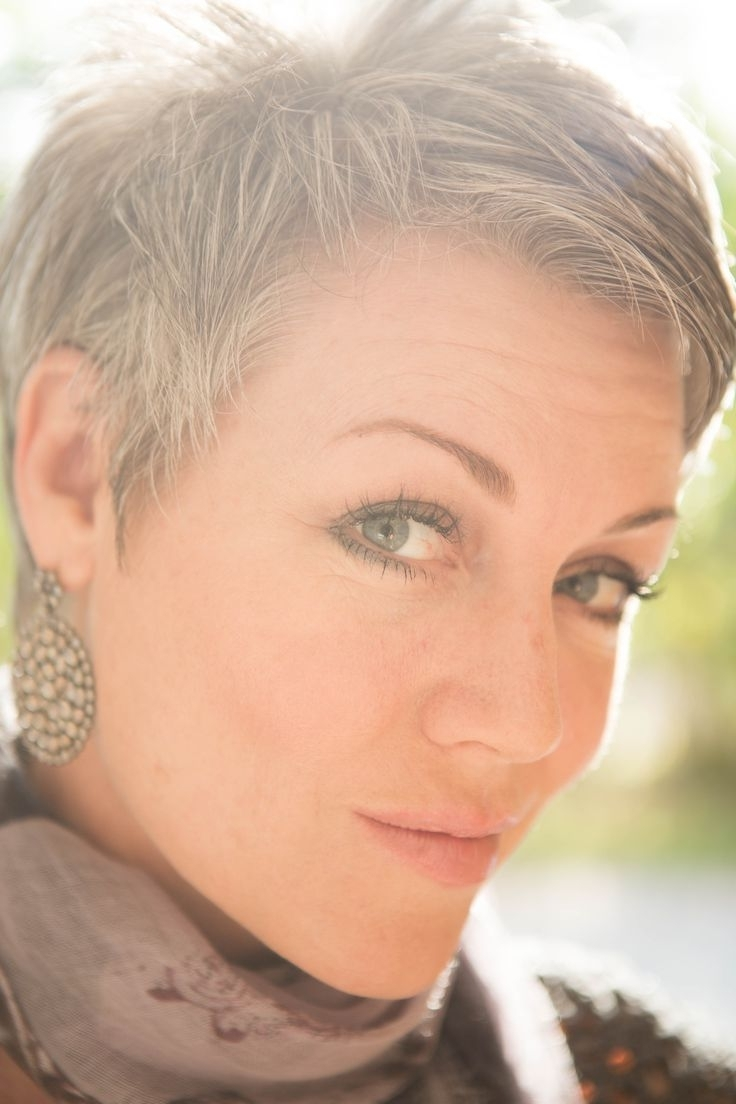 Showing Gallery Of Short Pixie Hairstyles For Gray Hair View 7 Of