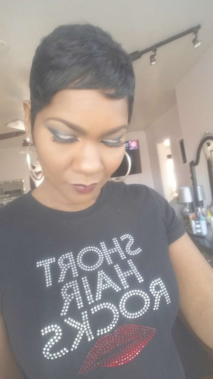 593 Best Black Hair Images On Pinterest   Pixie Haircuts, Hair Dos Intended For Most Up To Date Black Short Pixie Hairstyles (View 13 of 15)