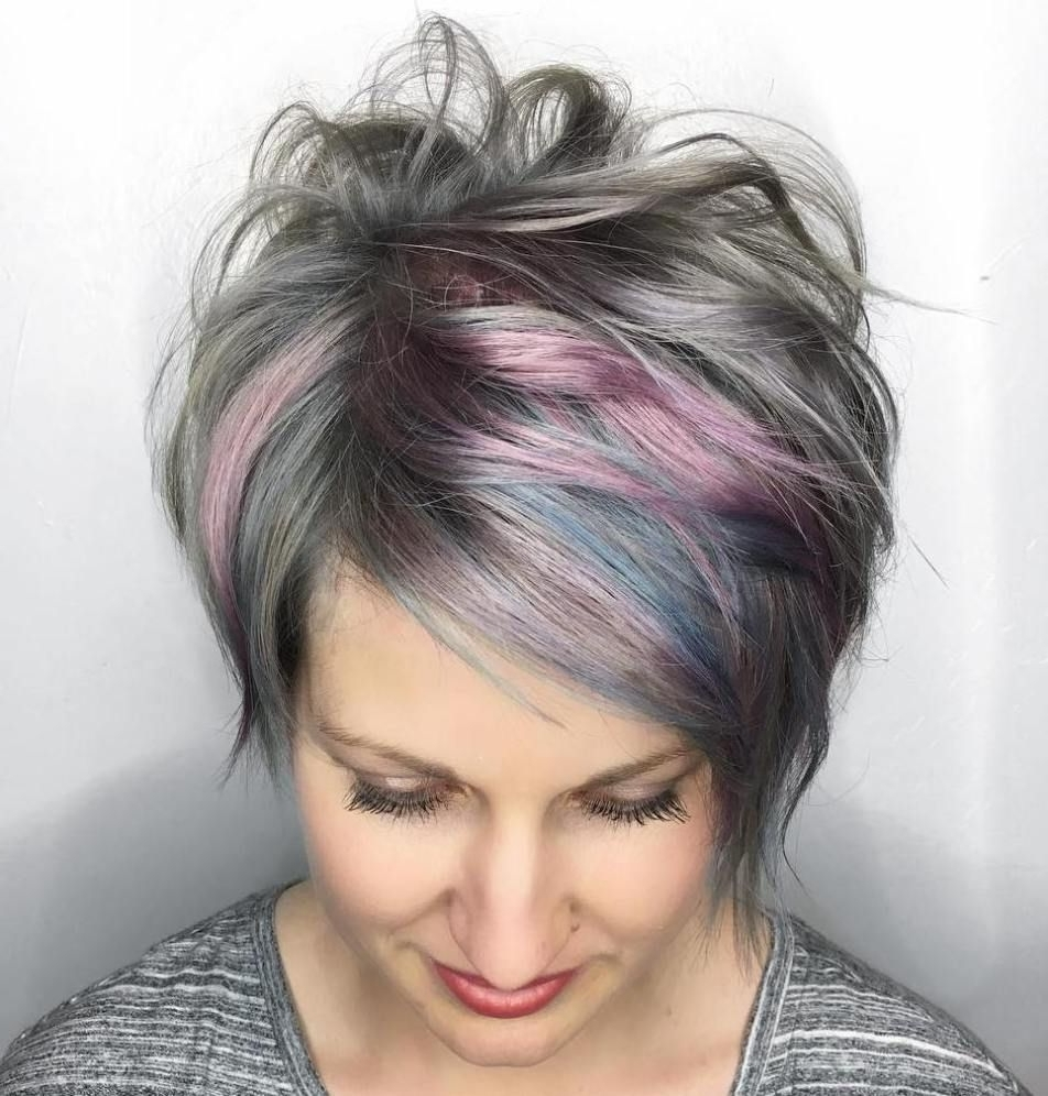 60 Gorgeous Long Pixie Hairstyles   Pink Highlights, Long Pixie With Newest Modified Pixie Hairstyles (View 14 of 15)