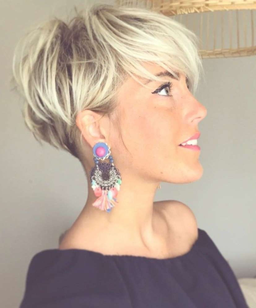 Image Gallery Of Blonde Pixie Hairstyles View 13 Of 15 Photos
