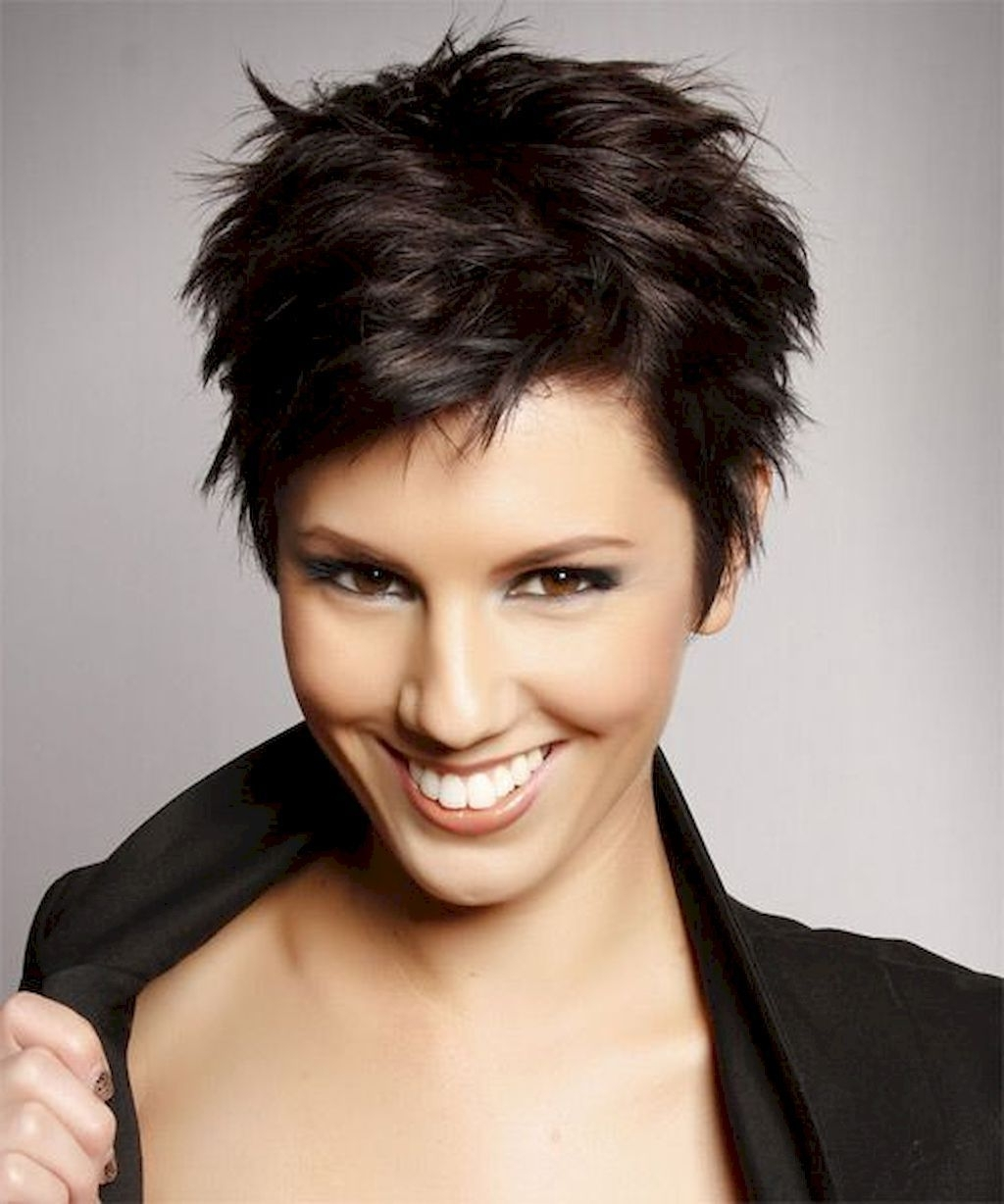 72 Classy Short Pixie Haircuts And Hairstyles For Thick Hair Pertaining To Best And Newest Pixie Hairstyles For Thick Coarse Hair (View 15 of 16)
