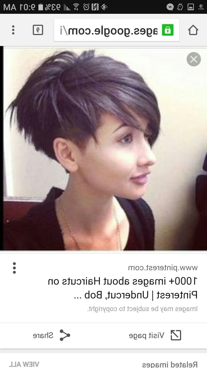 757 Best S H O R T H A I R Images On Pinterest   Hairstyle Short Regarding Most Popular Pixie Hairstyles With Shaved Sides (View 9 of 15)