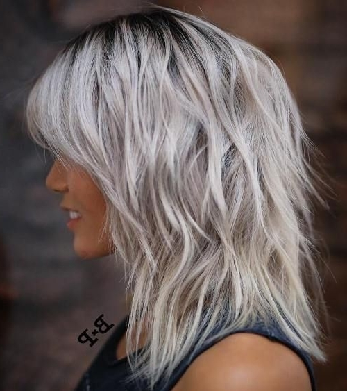 80 Sensational Medium Length Haircuts For Thick Hair | Long Grey Regarding Newest Shaggy Grey Hairstyles (Gallery 9 of 15)