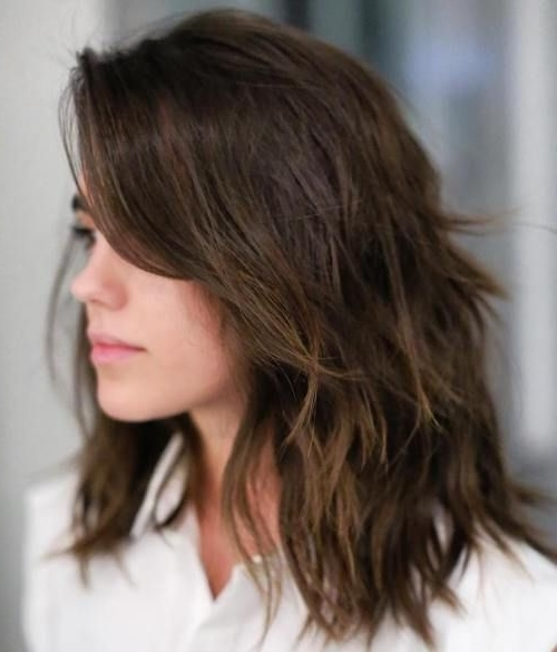 80 Sensational Medium Length Haircuts For Thick Hair | Shag Within Best And Newest Shaggy Hairstyles For Long Thick Hair (Gallery 15 of 15)