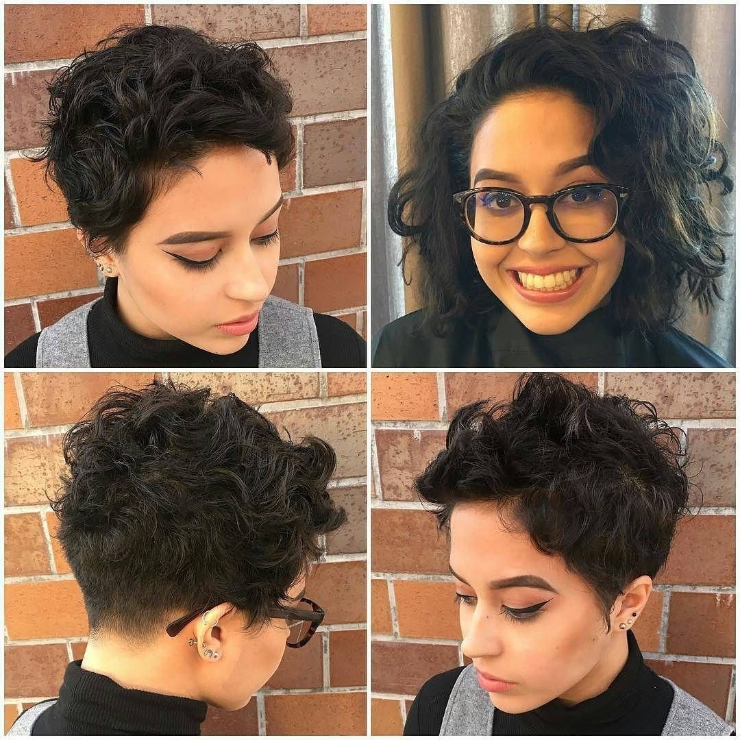 A Perfect Hairstyle | Thick Curly Hair, Pixie Cut And Undercut For Newest Pixie Hairstyles For Thick Curly Hair (View 7 of 15)