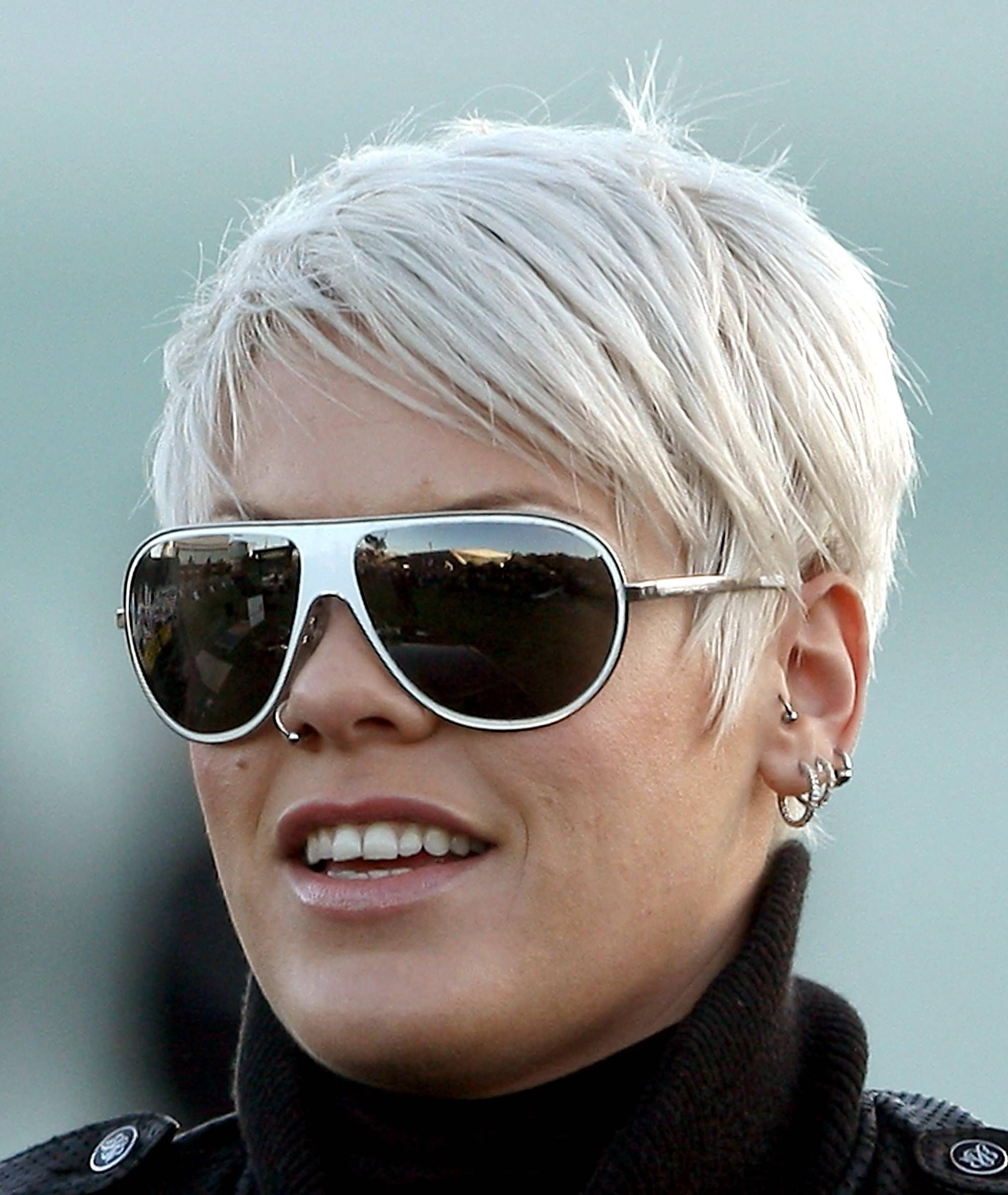 A Photo Gallery Of Gorgeous Platinum Colored Hair | Short Blonde Within Recent Pink Short Pixie Hairstyles (View 4 of 15)