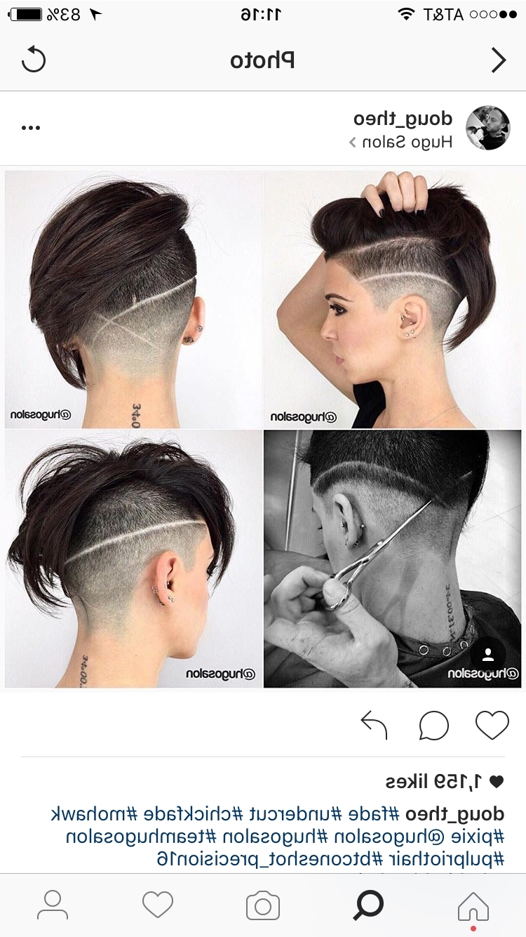 Amazing Pixie Undercut And Line Up Design   Hair   Pinterest With Regard To Newest Line Pixie Hairstyles (View 12 of 15)