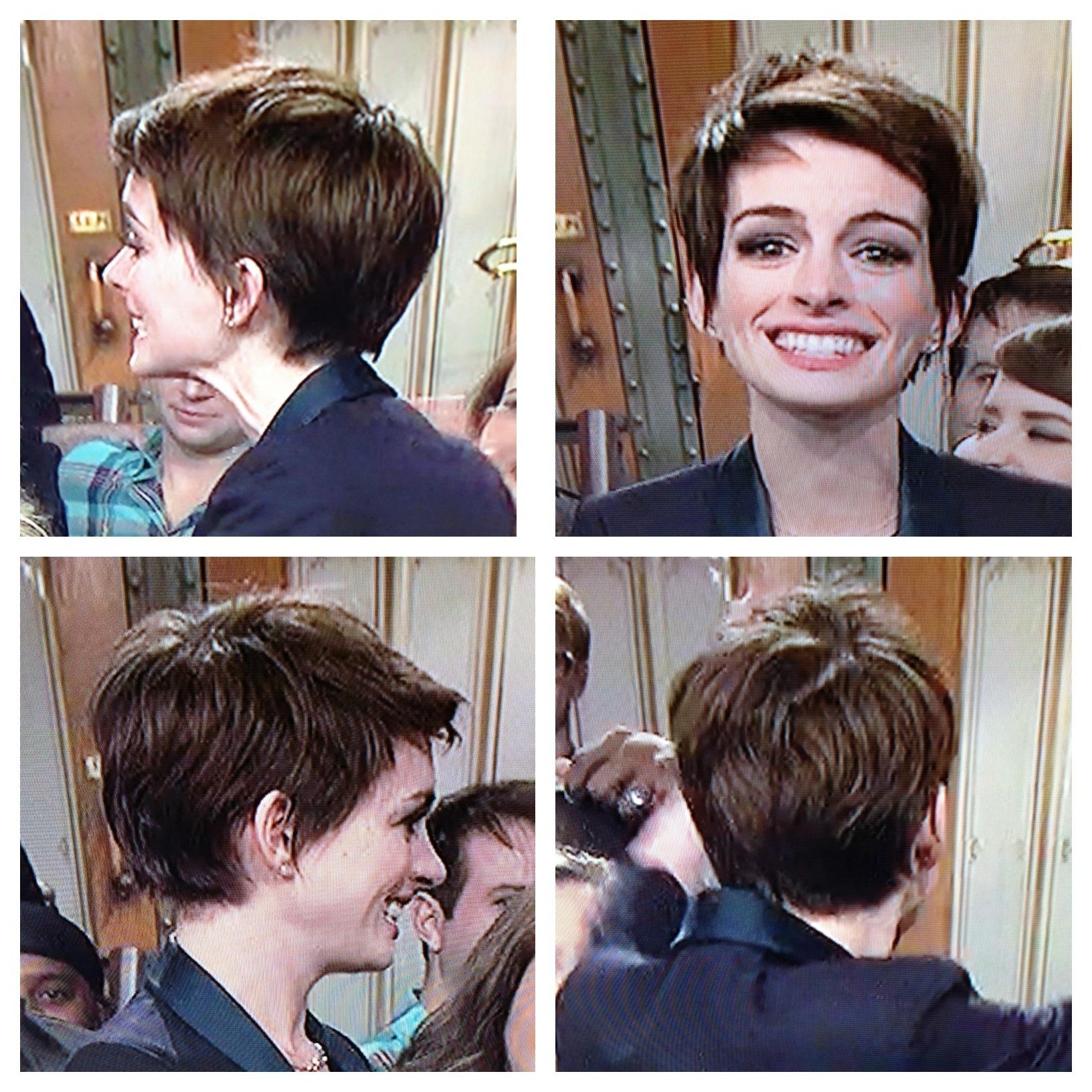 Anne Hathaway Pixie Haircut Adorable