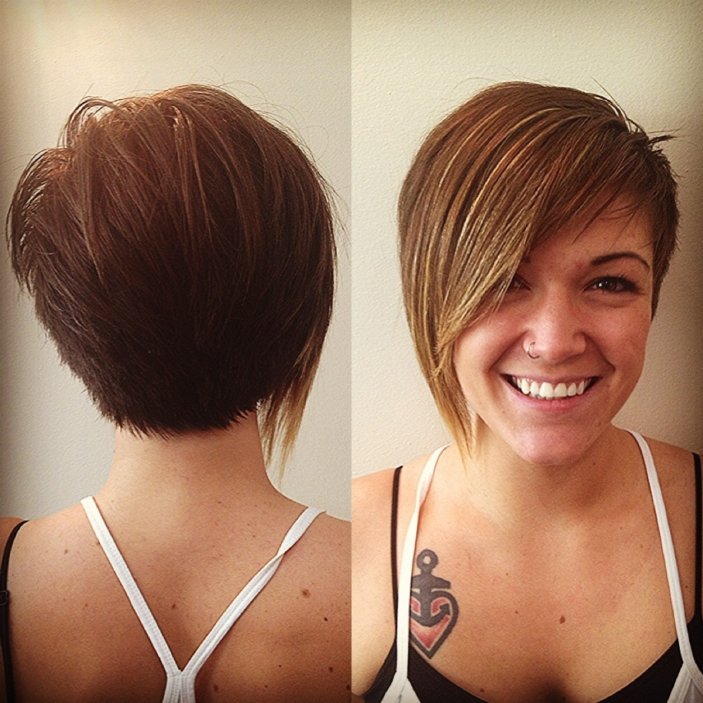 Showing Gallery Of Side And Back View Of Pixie Hairstyles View 9 Of